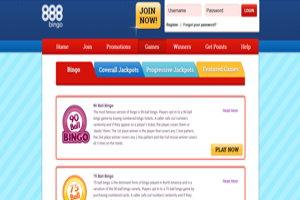 888 bingo website screenshot