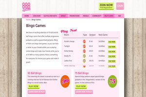 888 ladies website screenshot