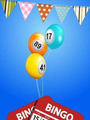 Bingo bunting and balloons screenshot