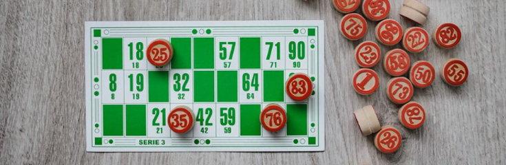 Bingo ticket and markers screenshot