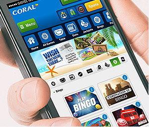 Coral bingo mobile app screenshot