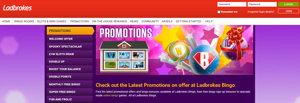 Ladbrokes Bingo promotional page screenshot