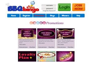 bbq bingo website screenshot