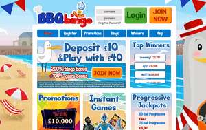 BBQ Bingo website homepage