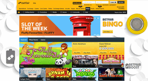 Betfair Bingo website homepage