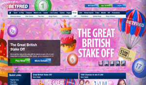 Betfred Bingo website homepage