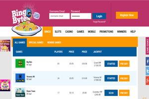bingo bytes homepage screenshot