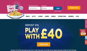 Bingo Bytes website homepage