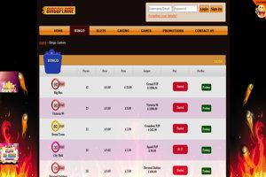 bingo flame website screenshot