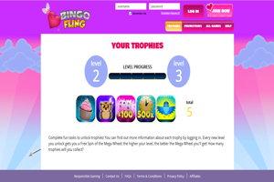bingo fling website screenshot