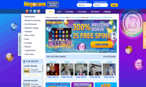 Bingocams website homepage