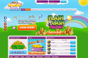Bright Bingo website homepage