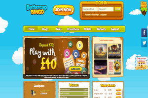 Buttercup Bingo website homepage