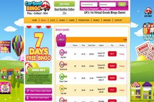 carboot bingo website screenshot