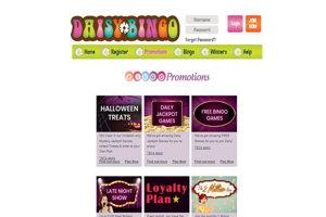 daisy bingo website screenshot