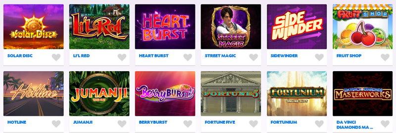 daub network slots titles screenshot