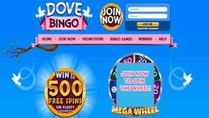 Dove Website homepage