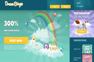 Dream Bingo website homepage