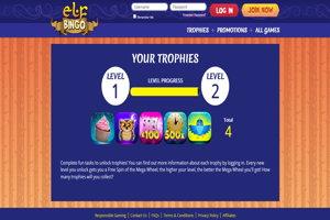 elf bingo website screenshot