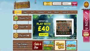 Grimms website homepage