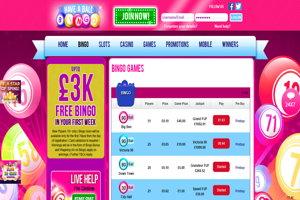 have a ball bingo website screenshot