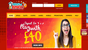 House of Bingo website homepage