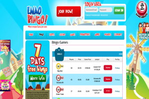 lmao bingo website screenshot