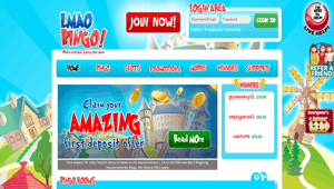 Landmark Bingo website homepage