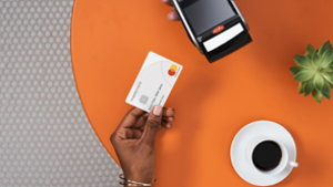 mastercard contactless card and coffee screenshot