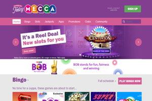 mecca bingo homepage screenshot