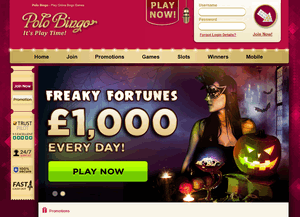 Polo Bingo website homepage