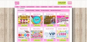 888 Ladies promotional page screenshot