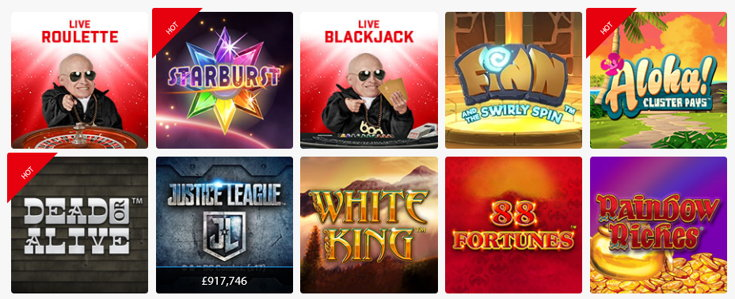 BGO Bingo casino games screenshot