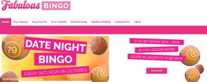 Fabulous Bingo promotional page screenshot