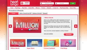 Heart Bingo promotional page screenshot