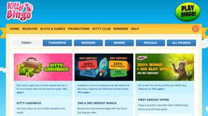 Kitty Bingo promotional page screenshot