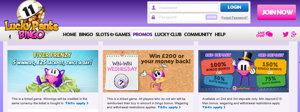 Luck Pants Bingo promotional page screenshot