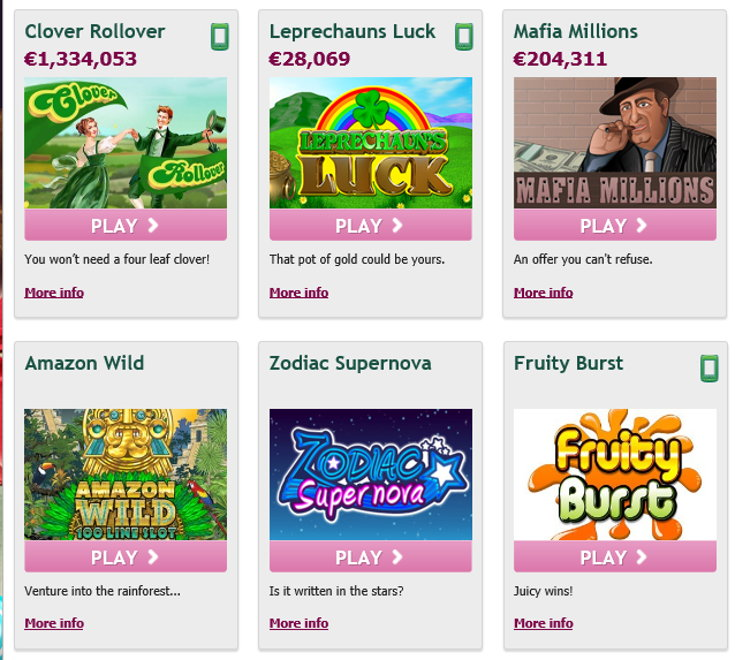 Paddy Power slots games screenshot