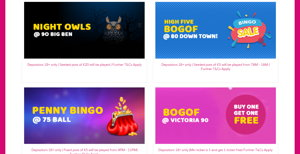 Play2win Bingo promotional page screenshot