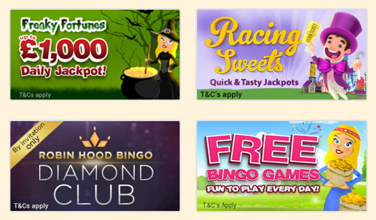 Robin Hood Bingo promotional page screenshot