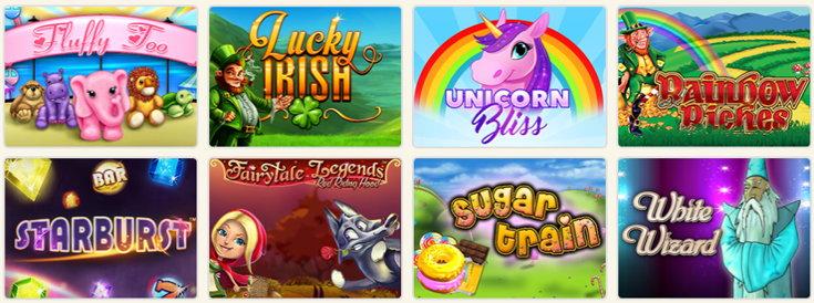 Silk Bingo slots games screenshot