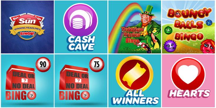 Sun Bingo games screenshot