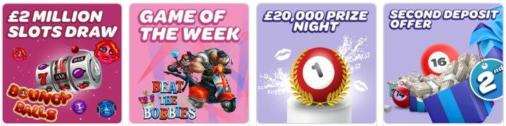 Sun Bingo bonus page screenshot
