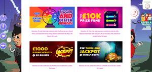 Vampire Bingo promotional page screenshot