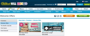 William Hill promotional page screenshot