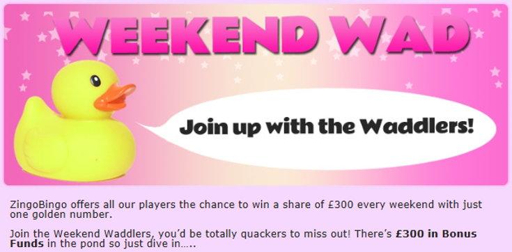 Zingo Bingo weekend wad bonus screenshot