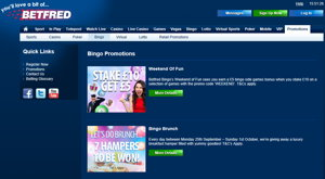 Betfred Bingo promotional page screenshot