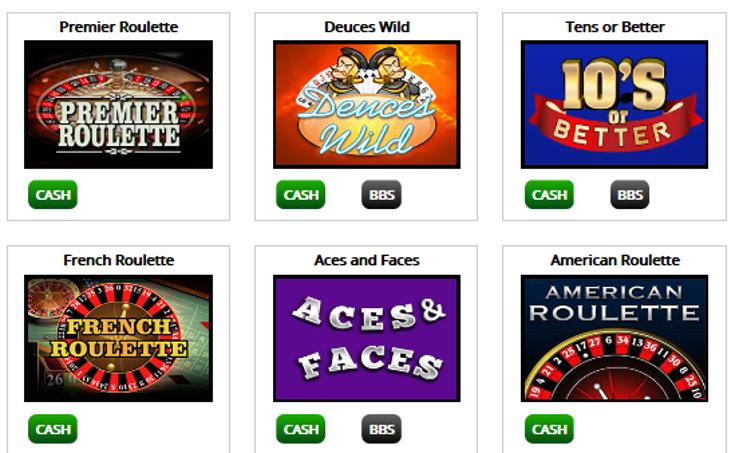 Buttercup Bingo games screenshot