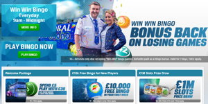 Coral Bingo promotional page screenshot