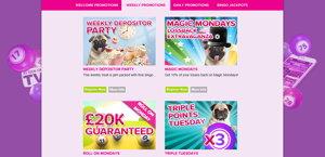 Vernons Bingo promotional page screenshot
